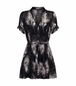 Fay Feathers Mini Dress