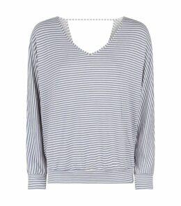 Sadie Stripe Cut-Out Pyjama Top