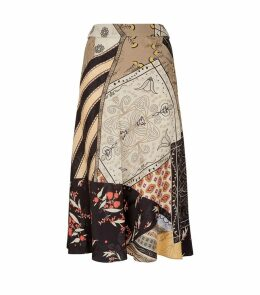 Patchwork Printed Skirt