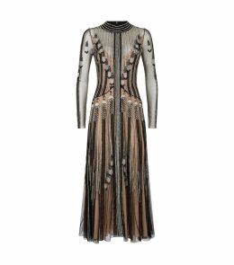 Moonlight Embellished Tulle Cocktail Dress