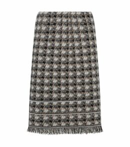 Fringe Tweed Skirt