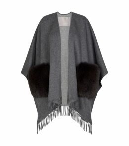 Wool Fox Fur Poncho