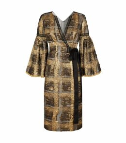 Metallic Cloqué Check Dress