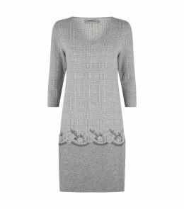 Knitted Micro-Check Dress
