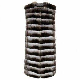 Chinchilla cardi coat