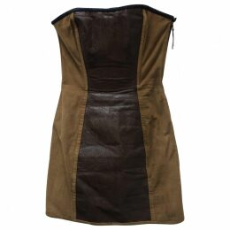 Exotic leathers mini dress