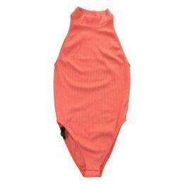 Orange Synthetic Top