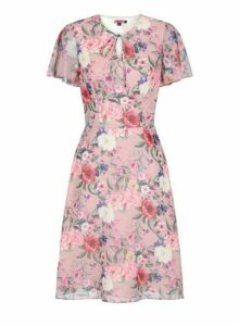 Womens *Chi Chi London Pink Floral Printed Midi Dress- Pink, Pink