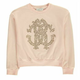 Roberto Cavalli Sequin Logo Sweater