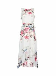 Womens **Billie & Blossom Ivory Ruffle Hem Maxi Dress- Ivory, Ivory