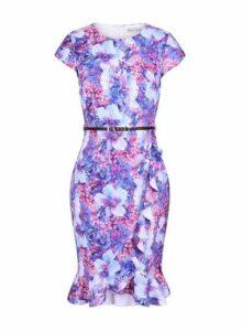 Womens **Paper Dolls Multicoloured Wrap Bodycon Dress- Multi Colour, Multi Colour
