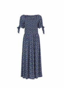 Womens **Tall Navy Floral Ditsy Print Dress- Blue, Blue