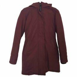 Burgundy Synthetic Coat Victoria