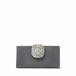 LEONIS Dusk Suede Clutch Bag with Snap Closure