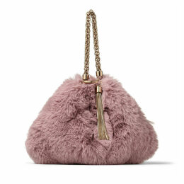 CALLIE Mauve Faux Fur Clutch Bag
