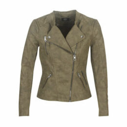 Only  ONLAVA  women's Leather jacket in Green