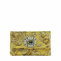 TITANIA Clutch aus goldenem Brokatgewebe