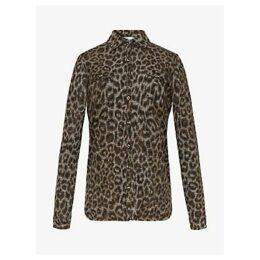 Gerard Darel Eddy Leopard Print Shirt, Grey