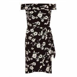 Adrianna Papell Living Blooms Tie Waist Sheath