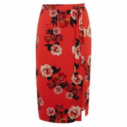 Oasis Curve Scarf Floral Skirt*
