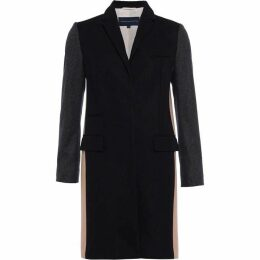 French Connection Platform Felt Colour Block Coat