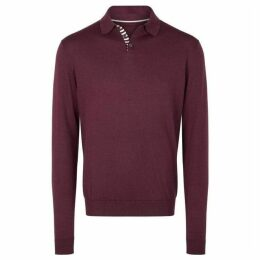 Richard James Long Sleeved Polo Knit
