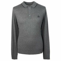 Pretty Green Long Sleeve Tipped Knitted Polo