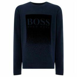 Boss Wolflike Flocked Logo Sweatshirt