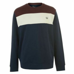 Fred Perry Colour Block Crew Neck Sweatshirt