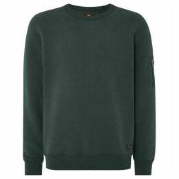 Lee Zip Arm Detail Crew Neck Sweatshirt