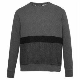 French Connection Tweed Appliqué Jersey Sweatshirt