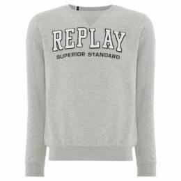 Replay Round-Neck Cotton Sweatshirt