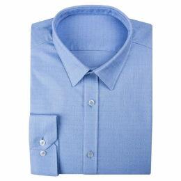 Limehaus Blue Textured Spot Forward Point Shirt