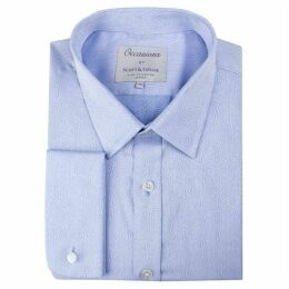 Scott and Taylor Blue Paisley Occasions Regular Fit Shirt