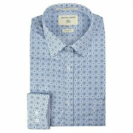 Racing Green Blue Mosaic Print Shirt