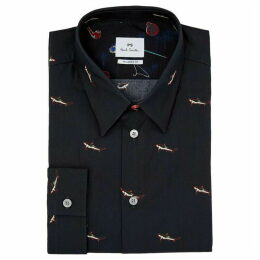 PS by Paul Smith Tailored Fit Shark Print Shirt