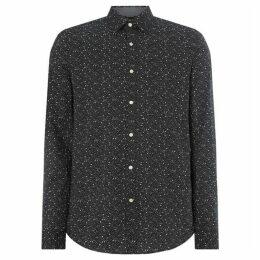 Michael Kors Constellation Print Long Sleeve Slim Fit Shirt