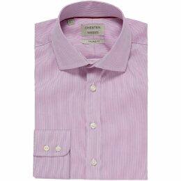 Chester Barrie Hairline Stripe Tailored Fit Shirt-Purple-16