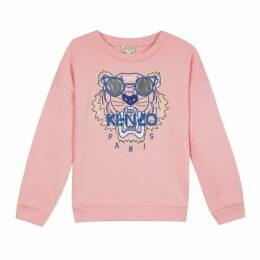 Kenzo Kid Girl Sweat Shirt Salmon Pink