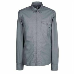 Pretty Green Slim Fit Zip Front Shirt