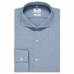 Richard James Coloured Gingham Slim Fit Shirt