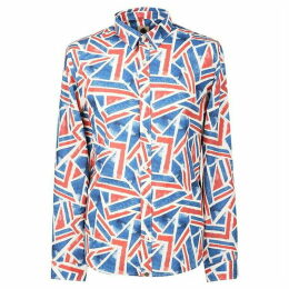 Pretty Green Slim Fit Union Jack Print Shirt