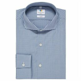 Richard James Soft Gingham Slim Fit Shirt