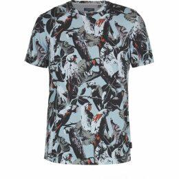 Ted Baker Beakme Parrot Print Cotton Tshirt