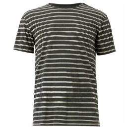 All Saints Figure Stripe Crew T-Shirt