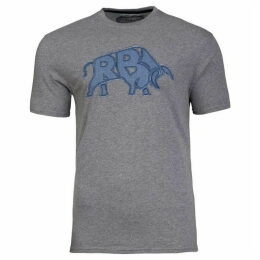 Raging Bull Big And Tall Rb Bull Applique Tee
