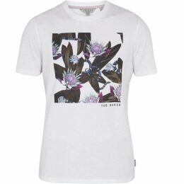 Ted Baker Portion Snake Print Cotton Tshirt