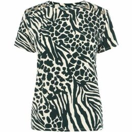 Karen Millen Animal Print T-Shirt