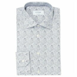 Eton All Over Paisley Print Contemporary Fit Shirt
