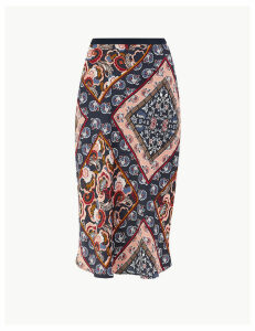 M&S Collection Paisley Scarf Print Slip Skirt